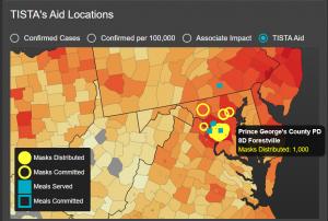 TISTA COVID-19 aid map